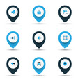 user icons colored set with unlock back apps and vector image vector image