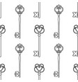 vintage keys black and white seamless pattern for vector image vector image