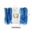watercolor painting flag of guatemala vector image vector image
