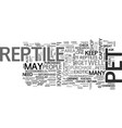 where to buy a reptile to keep as a pet text word vector image vector image
