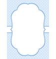 Blue Polka Dot Invitation Template vector image
