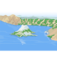 Crater lakes vector image