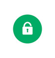 simple lock icon on green circle background vector image