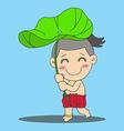Lotus Leaf Boy vector image