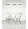 2017 new year symbol with light bulbs and vector image vector image