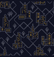 abstract urban seamless pattern landscape vector image