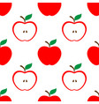 apple and half red seamless pattern background vector image vector image