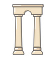 archway egypt icon cartoon style vector image vector image