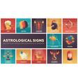 astrological signs - set of flat design vector image vector image