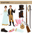 baroque or 17 century european old retro fashion vector image