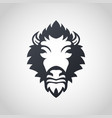bison logo icon design vector image vector image