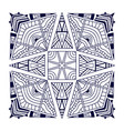 black bandana print ethnic ornament pattern vector image vector image
