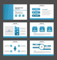 Blue presentation templates Infographic elements f vector image vector image
