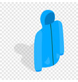 blue ski jacket isometric icon vector image vector image
