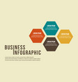 business infographic step concept design vector image vector image