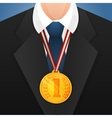 Businessman with medal vector image