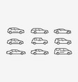 cars icon set transport transportation symbol in vector image vector image