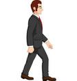 cartoon businessman holding briefcase vector image vector image