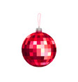 christmas toy red faceted bal vector image