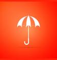 classic elegant opened umbrella icon isolated vector image vector image