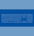computer keyboard outline vector image vector image