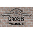Cross training emblem in vintage style vector image vector image