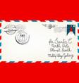 dear santa claus mail envelope christmas surprise vector image vector image