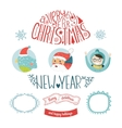 decorative christmas elements vector image vector image