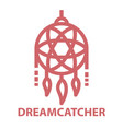 dreamcatcher bold line icon vector image