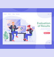 evaluations results web page banner template vector image