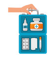 first aid suitcase vector image