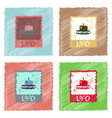 flat icon design collection flying saucer on card vector image vector image