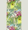 flower colorful background vase glass bouquet vector image
