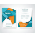 Geometric design business brochures magazines vector image vector image