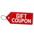 gift coupon label or price tag vector image