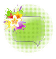 Glass Speech Bubbles With Plumeria vector image vector image