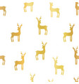 gold foil deer silhouettes seamless vector image