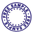 grunge textured free sample round stamp seal vector image vector image