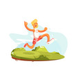 happy man running vector image