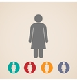 icons with a female sign vector image vector image