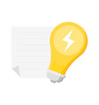 idea design concept with shining light bulb vector image vector image