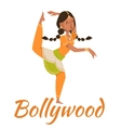Indian Bollywood couple dancing vector image vector image