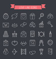 love line icons vector image vector image