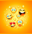 mamy emoji icon on the orange background vector image vector image