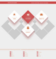 Minimal Web Template for corporate or portfolio vector image vector image