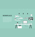 modern design workplace vector image