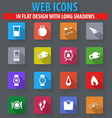 monitoring apps icons set vector image