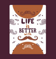 mustache lettering vector image vector image