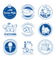 natural dairy products farm fresh milk vector image