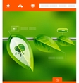Nature leaves infographic banner vector image vector image